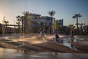Dancing Water amusement at Kemah Boardwalk, an entertainment destination on the Gulf Coast in Kemah, Texas.