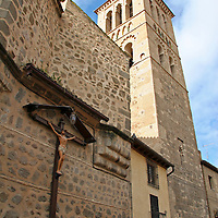 Europe, Spain, Toledo. Santa María la Blanca Church exterior.