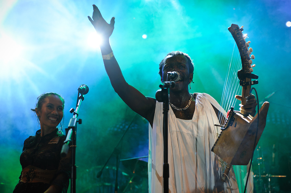 Afronesia featuring Afro Moses performing at the Bali Spirit Festival, 24/3/2013.