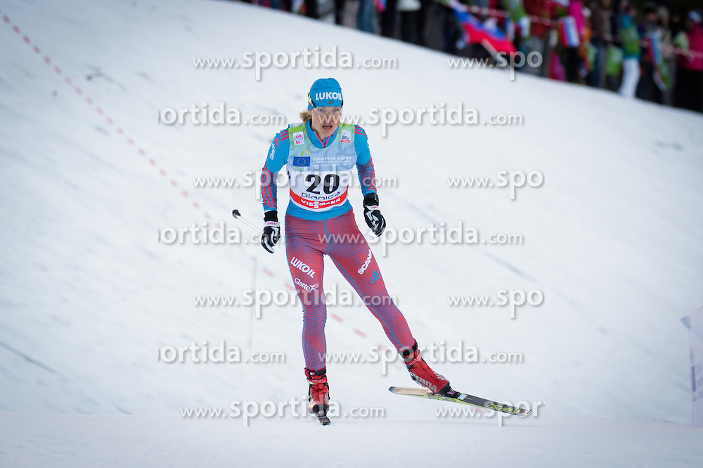 Natalia Matveeva (RUS) during Ladies 1.2 km Free Sprint Qualification race at FIS Cross<br /> Country World Cup Planica 2016, on January 16, 2016 at Planica,Slovenia. Photo by Ziga Zupan / Sportida