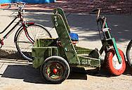 Hand powered trike in Baracoa, Guantanamo, Cuba.
