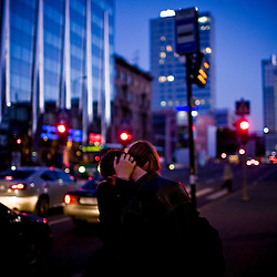 A couple embraces in the new section of Tallinn, Estonia in Sept. 2009. The young democracy joined the European Union in 2004 and since has been working on getting the euro as its national currency. Estonia has one of the highest per capita incomes in central europe.