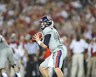 Ole Miss quarterback Bo Wallace (14) vs. Alabama at Bryant-Denny Stadium in Tuscaloosa, Ala. on Saturday, September 29, 2012. Alabama won 33-14. Ole Miss falls to 3-2.