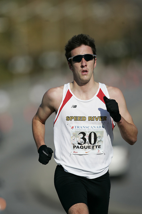 (Ottawa, ON---18 October 2008) MAX PAQUETTE competes in the 2008 TransCanada 10km Canadian Road Race Championships. Photograph copyright Geoff Robins/Mundo Sport Images (www.msievents.com).