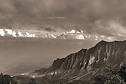 landscapes,photo,experimental,photography,black and white,Kauai,Hawaii,