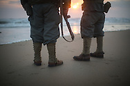 Reeactors on Omaha beach celebrating the 69th anniversary of the D Day