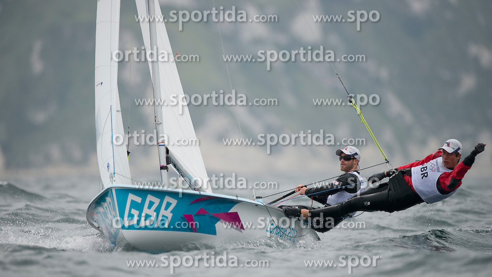01.08.2012, Bucht von Weymouth, GBR, Olympia 2012, Segeln, im Bild Leigh Michael, Ramsay Luke, (CAN, 470 Men) // during Sailing, at the 2012 Summer Olympics at Bay of Weymouth, United Kingdom on 2012/08/01. EXPA Pictures © 2012, PhotoCredit: EXPA/ Juerg Kaufmann ***** ATTENTION for AUT, CRO, GER, FIN, NOR, NED, POL, SLO and SWE ONLY!