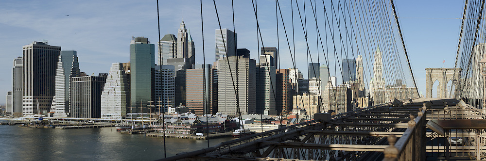 View from Brooklyn Bridge to Manhattan