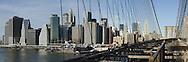 View from Brooklyn Bridge to Manhattan