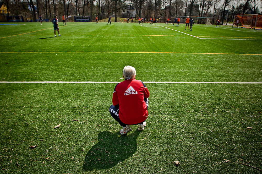 New York Redbulls general manager Hans Backe during practice in New Jersey...Photographer: Chris Maluszynski /MOMENT