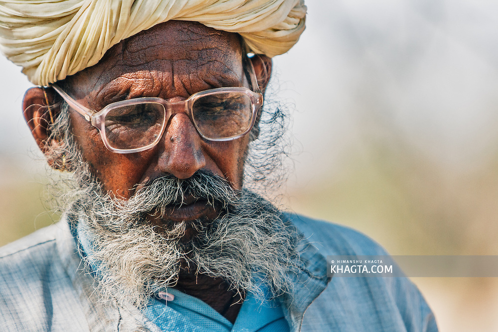 Portrait of an old  Rajasthani man