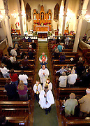 Mass concludes Sunday during an English language mass at St. Patrick's Church.