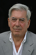 Mario Vargas Llosa, one of the world's greatest living writers, from South America...Edinburgh International Book Festival 2003..Edinburgh, Scotland.