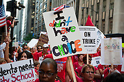The Chicago Teachers Union and allies march from CPS Headquarters to the Board of Trade on September 11, 2012.