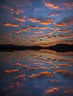 Mexico. Latin America,Baja, La Ventana, Sea of Cortez, sunset clouds near La ventana