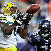 &amp;#xA;Green Bay's Donald Driver catches a pass to the Seattle 17-yard line in the 4th quarter. Driver was covered by Seattle's Kelly Herndon. &amp;#xA;The Green Bay Packers traveled to Seattle, WA, to play the Seattle Seahawks in Monday night football Monday November 27, 2006. Steve Apps-State Journal.<br />