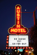 The sign of the Austin Motel on South Congress Avenue, Austin, Texas