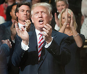July 20, 2016 - Cleveland, Ohio: Donald Trump clapping at the end of his son, Eric Trump's speech at the Republican National Convention.