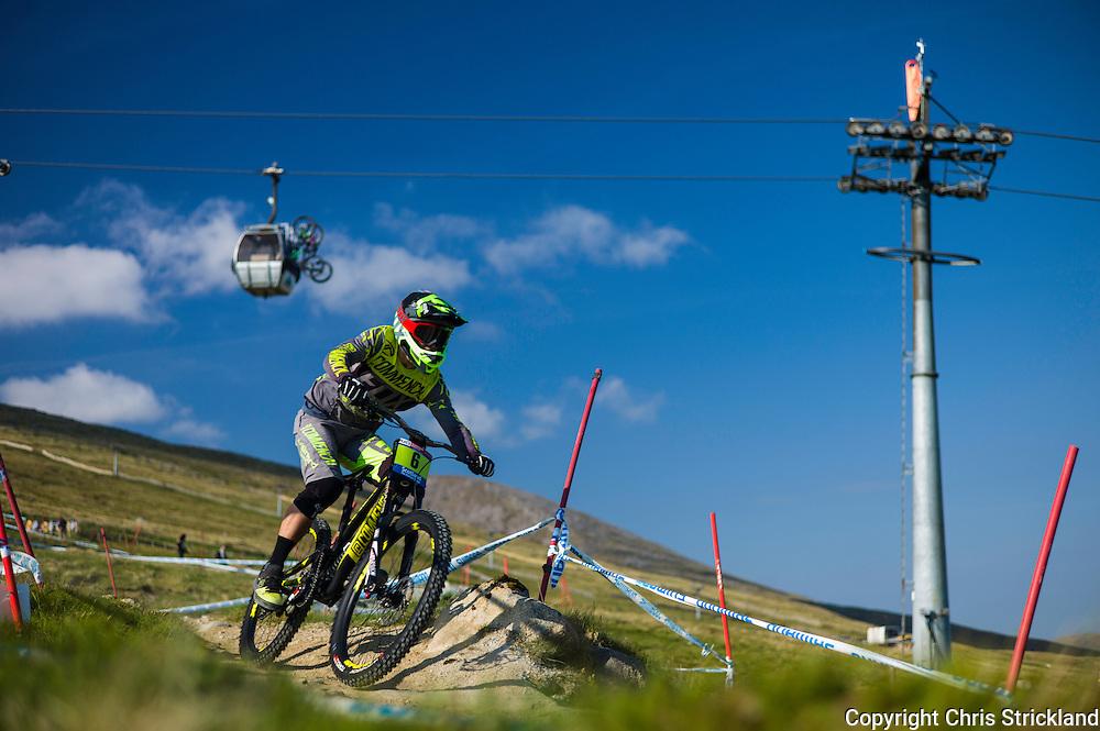 Nevis Range, Fort William, Scotland, UK. 5th June 2016. The worlds leading mountain bikers descend on Fort William for the UCI World Cup on Nevis Range.