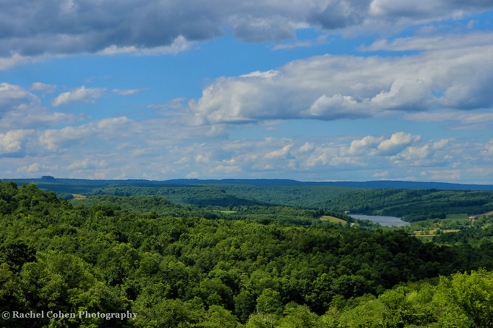 &quot;Donegal Vista&quot;<br /> <br /> Ah, the beauty of Donegal in the Laurel Highlands! Summertime brings a gorgeous green view of endless forests, as well as lakes a plenty. Beautiful summertime clouds pass all across the sky!!<br /> <br /> Laurel Highlands Area of Pennsylvania by Rachel Cohen