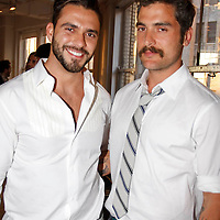"""Lorenzo Martin and Douglas Friedman attend the opening of """"Lady"""" by Douglas Friedman at the Ruffian Gallery on April 23, 2009 in New York City."""