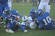 Water Valley's Kirkland Horton (7) recovers a fumble vs. Senatobia in Water Valley, Miss. on Monday, September 23, 2013. Water Valley won 45-7 to improve to 5-0.