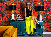 """Melissa Rochesits on her cabinet in Parlor 430, she a local interior designer and Season 2 winner on HGTV's """"Brother vs. Brother"""" on Monday, July 28, 2014.  L.E. Baskow"""