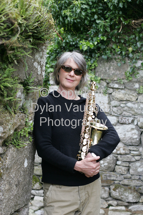 24/5/2006.Carole Nelson of Zrazy pictured with her object of desire an alt saxaphone..Picture Dylan Vaughan.