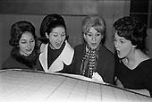 1963 - Fashion models visit Bolands Biscuit Factory at Deansgrange, Dublin