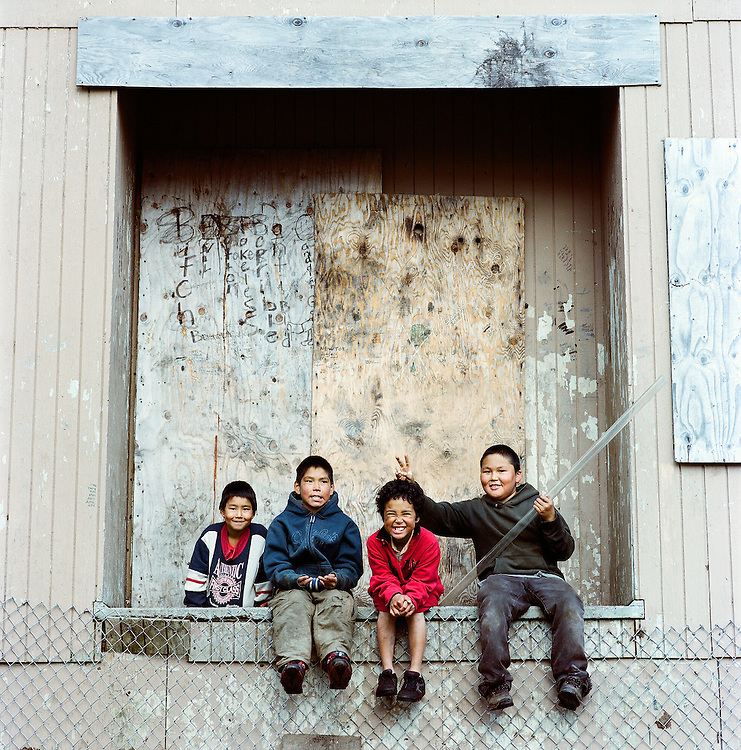 Children in Newtok, Alaska. 2008