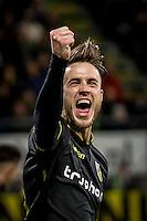 DEN HAAG - ADO Den Haag - Vitesse , Voetbal , Eredivisie , Seizoen 2016/2017 , Kyocera Stadion , 03-02-2017 , Vitesse speler Ricky van Wolfswinkel viert zijn doelpunt voor de 0-2