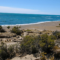 The Valdes Peninsula (Spanish Peni?nsula Valde?s), UNESCO World Heritage Site, is a peninsula along the Atlantic coast in the Viedma Department in the north east of Chubut Province, Argentina. Its size is about 3,625 km². The nearest large town is Puerto Madryn. The coastline is inhabited by marine mammals, like sea lions, elephant seals and fur seals.Atlantic Ocean. Peninsula Valdez. Patagonia (Argentina)
