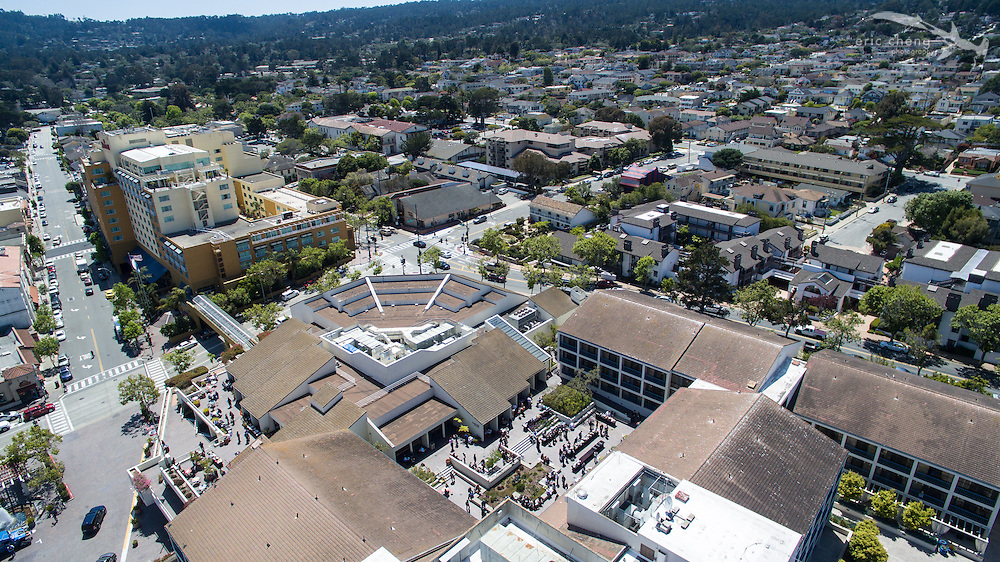 Aerial shot of the Monterey Conference Center during e.g.