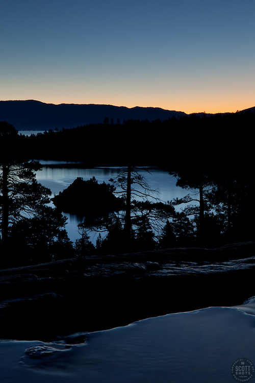 """""""Emerald Bay Sunrise 3"""" - This sunrise was photographed from Eagle Falls above Emerald Bay, Lake Tahoe."""