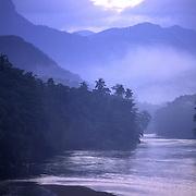 Sri Lanka. Wak Oya river at dawn.