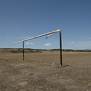 Goal near Astorga, Leon Province, Spain . The WAY OF SAINT JAMES or CAMINO DE SANTIAGO following the Silver Way, between Seville and Astorga, SPAIN. Tradition says that the body and head of St. James, after his execution circa. 44 AD, was taken by boat from Jerusalem to Santiago de Compostela. The Cathedral built to keep the remains has long been regarded as important as Rome and Jerusalem in terms of Christian religious significance, a site worthy to be a pilgrimage destination for over a thousand years. In addition to people undertaking a religious pilgrimage, there are many travellers and hikers who nowadays walk the route for non-religious reasons: travel, sport, or simply the challenge of weeks of walking in a foreign land. In Spain there are many different paths to reach Santiago. The three main ones are the French, the Silver and the Coastal or Northern Way. The pilgrimage was named one of UNESCO's World Heritage Sites in 1993. When there is a Holy Compostellan Year (whenever July 25 falls on a Sunday; the next will be 2010) the Galician government's Xacobeo tourism campaign is unleashed once more. Last Compostellan year was 2004 and the number of pilgrims increased to almost 200.000 people.