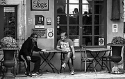 They must have been discussing something important...or so it seems. Bonnieux, France.