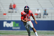 Barry Brunetti (11) at Ole Miss' Grove Bowl at Vaught-Hemingway Stadium in Oxford, Miss. on Saturday, April 13, 2013.