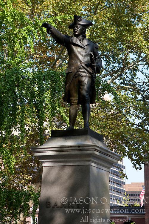 Commodore John Barry statue, Philadelphia, Pennsylvania, United States of America
