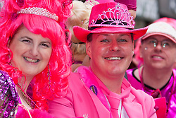 London, June 28th 2014. In the pink as the Pride London parade proceeds through the city's streets.