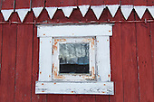 Demolition of an old Norwegian barn