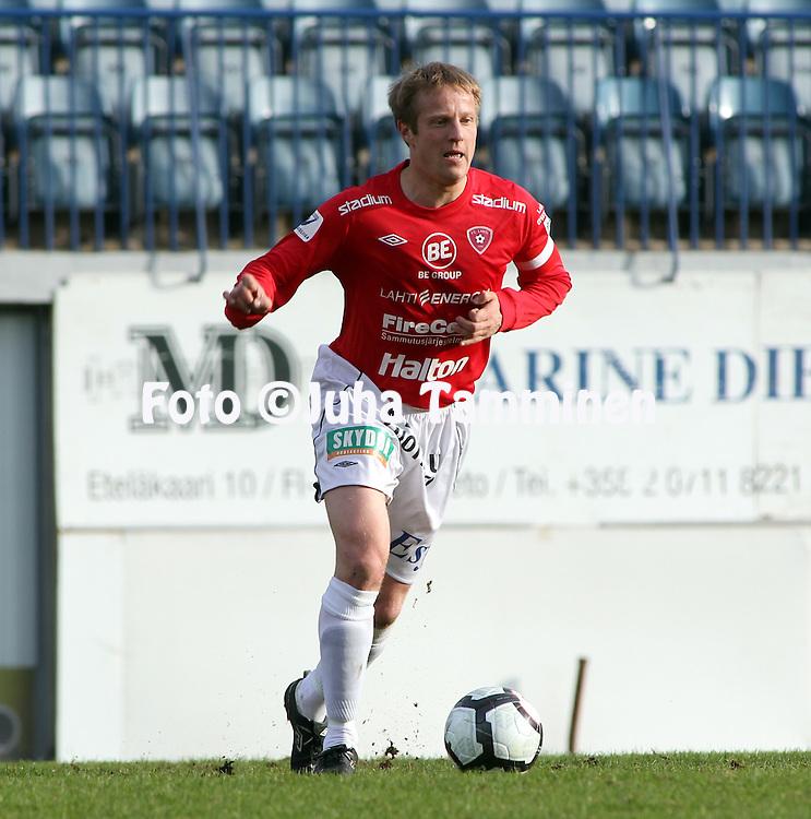 03.05.2010, Kupittaa, Turku..Veikkausliiga 2010, FC Inter Turku - FC Lahti..Jukka Vanninen - FC Lahti.©Juha Tamminen.