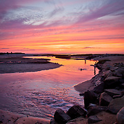 A spectacular sunset at Paine's Creek in Brewster.