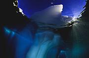 Iceberg above and below at Harefjord, Greenland