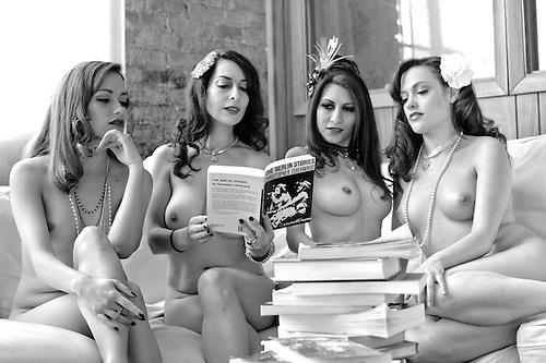 Reading naked nude girls