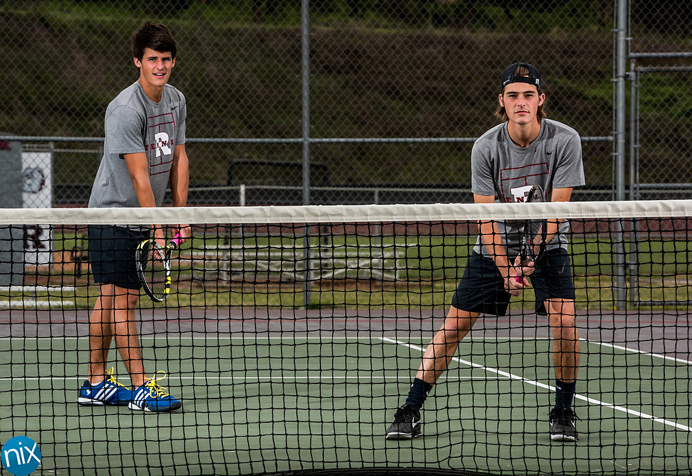 Jay M.  Robinson tennis players Clay and Cole Teal.