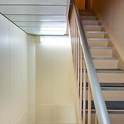 USNS John Glenn - Bulkhead and stairs leading to bridge