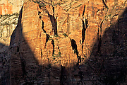 Navajo Sandstone Cliff at Sunset in Zion National Park