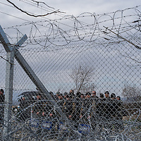 Macedonian police is seen patroling the Greek Macedonian border not far from the Greek village of Idomeni, Greece. FEDERICO SCOPPA/CAPTA