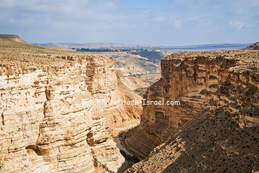 desert canyon at the judean desert, israel